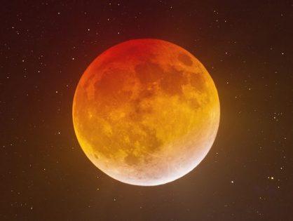 Лунное затмение в Январе 2020